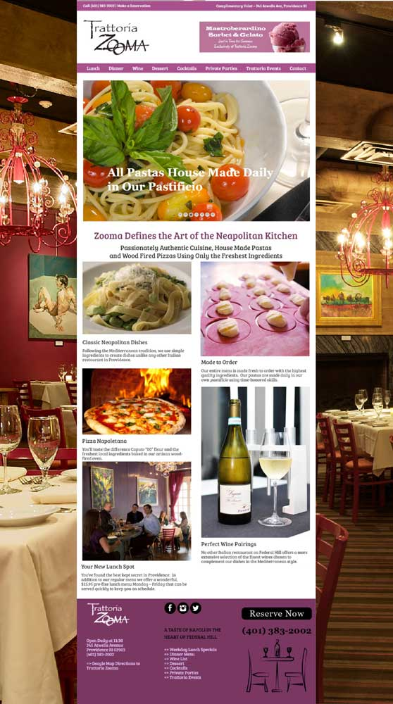 Trattoria Zooma - Client Since 2014